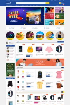 TopDeal – Trending Multi Vendor MarketPlace WordPress Theme TopDeal is an ideal eCommerce WordPress theme for the multipurpose online store, especially for multi-vendor or marketplace website. #topdeal #multivendor #marketplace #elementor #woocommerce #wordpressthemes #bestwordpressthemes #bestwoocommercethemes #bestelementorthemes Homepage Design, First Site, Wordpress Template, Premium Wordpress Themes, Anniversary Sale, Online Shopping Stores, Affiliate Marketing, Ecommerce, Layout