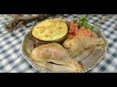 Laci bácsi konyhája menü - Töltött csirkecomb zöldségtortával, császármo... Camembert Cheese, Dairy, Meat, Chicken, Youtube, Food, Essen, Meals, Youtubers