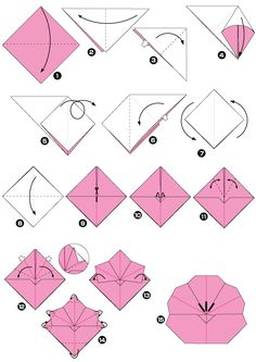 Easy origami rose folding instructions how to make an easy group of origami plum flower folding instructions mightylinksfo