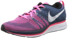 Nike Men's Flyknit Trainer, SQUADRON BLUE/WHITE-PINK FLASH, 7 M US