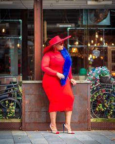Stylish Plus-Size Fashion Ideas – Designer Fashion Tips Older Women Fashion, Big Girl Fashion, Plus Size Fashion For Women, Black Women Fashion, Curvy Fashion, Look Fashion, Fashion Outfits, Plus Fashion, Womens Fashion