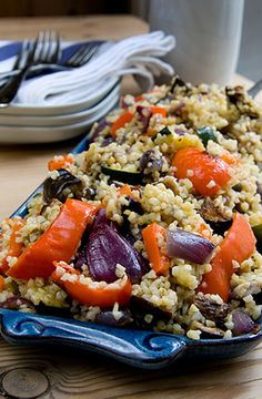 Mediterranean Roast Vegetables with Bulgar Wheat | DonalSkehan.com