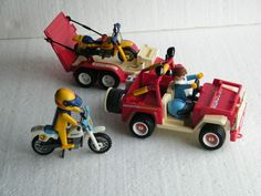 Playmobil 3143 Motorcross transport Jeep with trailer and motorbikes crossmotor