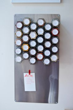Make a magnetic spice rack! Such a great idea -- tutorial