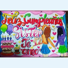 Diy Birthday, Birthday Party Decorations, Happy Birthday, Birthday Parties, Ideas Para Fiestas, Love Messages, Illustrations And Posters, Birthday Greetings, Diy Gifts