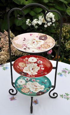 Handmade Wrought Iron Tearoom 3 Tier Cake Stand