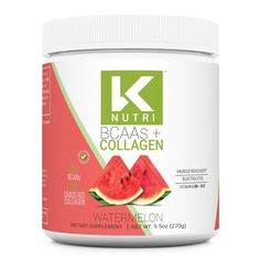 K Nutri's BCAA + Collagen is here and it combines 5g of BCAA's for your essential amino acids + 2g of Grass-Fed Collagen for the hair, skin and nails you've always wanted. This mix includes Vitamin B6 and B12, and a proprietary blend of electrolytes to keep you hydrated. This powerful combo comes in a delicious Pineapp Workout Essentials, Raspberry Lemonade, Energy Level, Refreshing Drinks, Amino Acids, Collagen, Watermelon, Vitamins, Grass