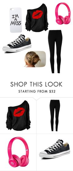 """Weekend"" by heyitskatherine1022 ❤ liked on Polyvore featuring Max Studio, Apple, Converse and LAUREN MOSHI"