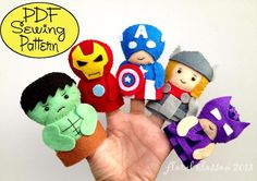 Superheroes Felt Finger Puppets | Craftsy