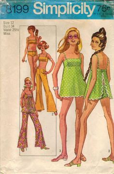 1960s Simplicity 8199 Vintage Sewing Pattern by midvalecottage