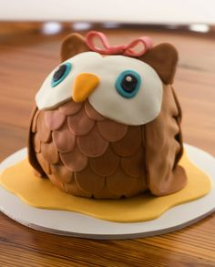 Owl Cake #2 by Inspire. Create. Bake., via Flickr