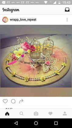 Engagement Ring Platter, Engagement Rings, Festival Decorations, Wedding Decorations, Trousseau Packing, Diwali Diy, Wedding Crafts, Tray Decor, Ganesha
