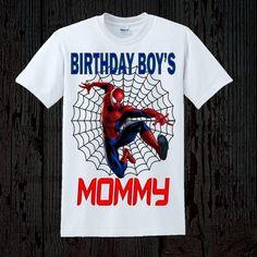 Spiderman Birthday Mom Shirt by FashionistaStylez on Etsy