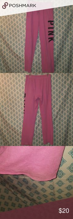 VS sweats Victorias secret pink boyfriend sweats  Super comfortable Gently used Some staining on the back of the bottoms (pictures 3&4) Always hung to dry Some pilling PINK Victoria's Secret Pants