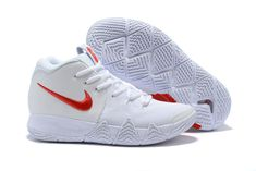 """new product 2fc4f b575d Men s Nike Kyrie 4 """"Half Heart"""" White Red Basketball Shoes Air Jordan Shoes,"""