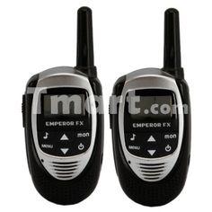 5Km LCD 8-Channel Two-Way Radio Walkie Talkies Black (pair)