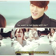 Heirs -Not really Young Do, cause he's immature and sad, but for Kim Woo Bin I VOLUNTEER ALWAYS