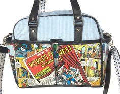 30791256b1be Superman™ Bags Etc. Collaged Superman and Batman Robin Belle Diaper by  SewNerdyBags Batman Robin