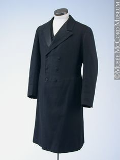 1875-1900, Canada - Frock coat by Gibb & Co. - Wool herringbone weave with silk twill lapels
