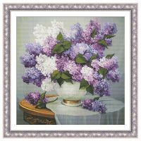 Lilac Romance Counted Cross Stitch Leaflet