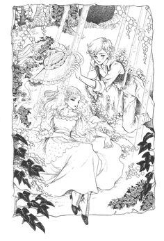 """Illustrations by Keiko Takemiya featured in """"Boys Through the Looking Glass"""""""