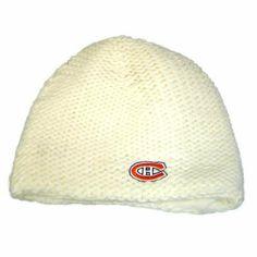 ed183166079 NHL LNH BEANIE KNIT POLAR CROCHET MONTREAL CANADIENS CANADA HOCKEY WOMEN  WHITE by Zephyr.  12.99