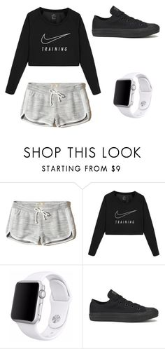 """""""Nike✅"""" by bkw34678 on Polyvore featuring Hollister Co., NIKE, Apple and Converse"""
