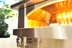 Our great looking and great cooking countertop outdoor pizza oven.