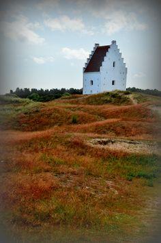 Sand covered church in North Jutland, Denmark 2013