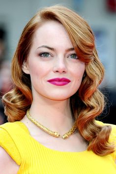 We Interrupt Your Friday Morning For Emma Stone's Hair #Refinery29 Perfection.