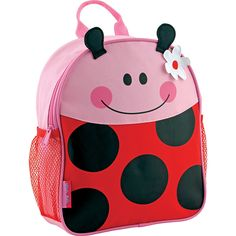 The Ladybug Mini Sidekick Backpack from Stephen Joseph is a chic and colorful bag that is perfect for your school-ready little one. This backpack features a front that resembles a ladybug and includes mesh pockets on each side. Mochila Skip Hop, Mini Mochila, Toddler Backpack, Mini Backpack, Cute Backpacks, School Backpacks, Personalized Baby Gifts, Kids Bags, Cute Bags