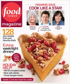 Food Network Magazine Cover Premiere Issue by Photographer Steve Giralt