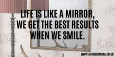 Life is like a mirror. #Quote #QuoteOfTheDay #BestOfTheDay #LifeQuotes |