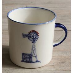 4 Mug´s Farm Range Camp - Windmill (Blue Set) Farm Range Camp Mug´s Windmill Blue Handmade Ceramic Mugs Colour: Blue and Red Heart 4 x Ceramic Mug Dishwasher and Microwave safe Call us: 861999938 Chutney Grey - Cape Town Handmade Ceramic, Ceramic Mugs, Windmill, Cape Town, Chutney, Creative Design, Microwave, Dishwasher, Range