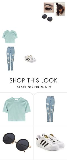 """Untitled #502"" by melissaperez427 on Polyvore featuring Topshop and adidas Originals"
