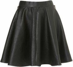 shopstyle.com: Black Full Skater Skirt