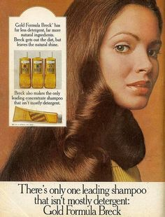 Breck/ I loved this shampoo/recognize the model?