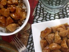 'Bourbon' Chicken- if you used to love the Chinese chicken at the mall, you'll love this recipe!  It's one of our family favorites.  From www.cookingTF.com