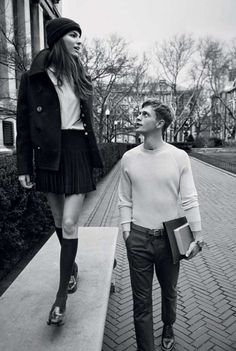 This Man About Town 2013 Editorial Depicts Student Romance #school #fashion trendhunter.com