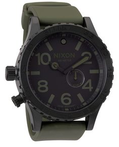 Just like those green NATO straps that most military watches have affixed to them, but, you know, not. $400, nixon.com