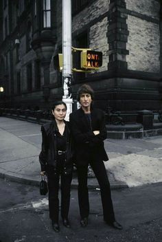 John and Yoko September 1980-ominous Don't Walk sign. Picture taken in John's beloved adopted city of New York.