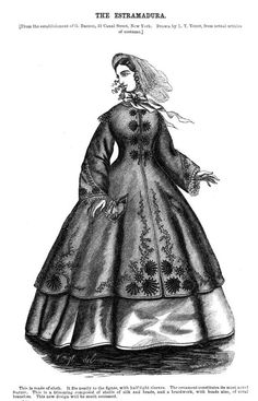 Fashion plate from Godey's Lady's Book, 1864.