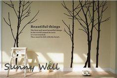 Woods - Vinyl wall sticker- wall decal- tree decals- wall murals art- nursery wall decals- Nature- Children- Tree