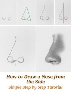 How to Draw a Nose From the Side - Tutorial by RapidFireArt