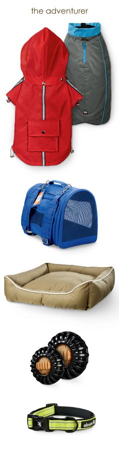 The Adventurer: Royal Animals Reflective Trim Raincoat 19.99 | Dog Gone Smart Water-resistant Trailblazer Jackets 39.99–99.99 | Prefer Pets Convertible Backpack Carrier 39.99 | Dog Gone Smart Water- and Stain-resistant Dog Beds 89.99–99.99 | Starmark Everlasting Wheeler Toys with Dental Treats 19.99–24.99 | Alcott Reflective Trim Dog Collars 12.99–19.99 Prices and selection vary by store. See additional colors, sizes and patterns in-store. #UNLstyle