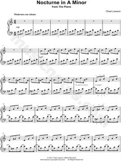 Print and download Nocturne in A Minor sheet music by Chad Lawson arranged for Piano. Instrumental Solo in A Minor.