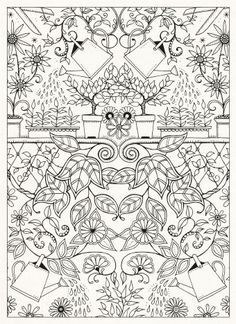 Inspirational coloring pages from Secret Garden, Enchanted Forest and other coloring books for grown-ups. - Google zoeken