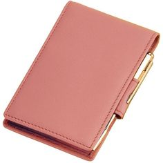 Royce Leather Deluxe Note Jotter, Pink (345 GTQ) ❤ liked on Polyvore featuring home, home decor, stationery and pink