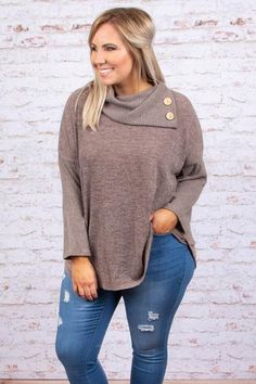 Dream About Me Sweater, Mocha – Chic Soul Plus Size Fall Outfit, Plus Size Fashion For Women, Plus Size Outfits, Casual Winter Outfits, Simple Outfits, Trendy Outfits, Amazing Outfits, Beautiful Outfits, Casual Wear