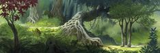 The Jungle Book background art Book Background, Disney Background, Forest Background, Animation Background, Background Ideas, Fantasy Paintings, Landscape Paintings, Landscapes, Fantasy Forest